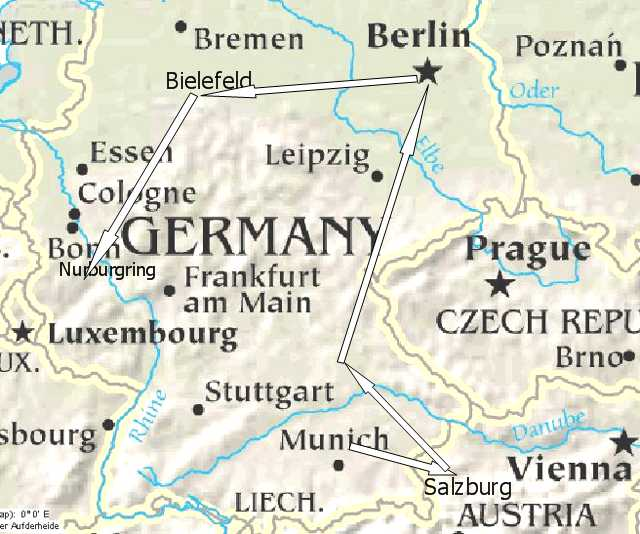 Chapter Germany - Germany map nurburgring